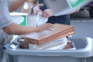 Santa Clarita - Barrels filled quickly with papers for shredding